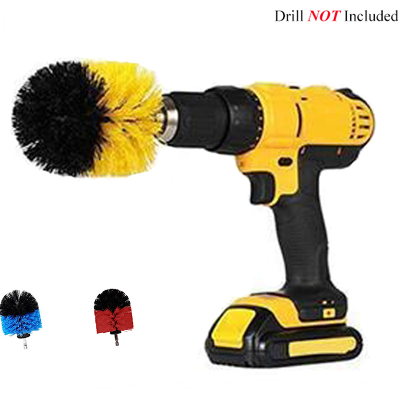 3.5inch Drill Power Scrub Clean Brush For Leather Plastic Wooden Furniture Car Interiors Cleaning Power Scrub Mutiple Colors