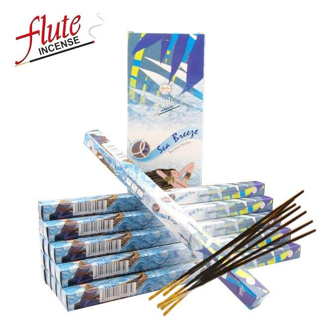 Flute 200 Sticks Pack Sea Breeze Lax Cored Stick Incense Handmade