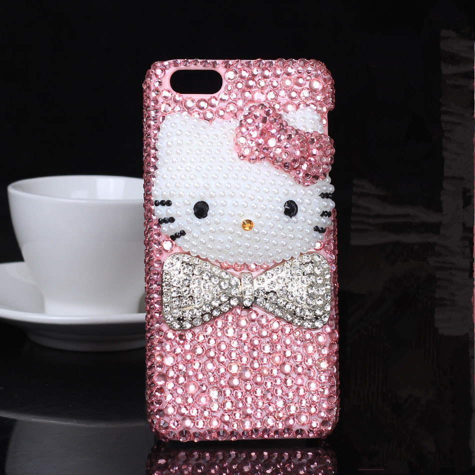 hot sale online 475d5 e02a8 US $15.39 |Cute Hello Kitty Diamond Cover For Iphone 6 Plus Smart Phone  Case Pink Color on Aliexpress.com | Alibaba Group