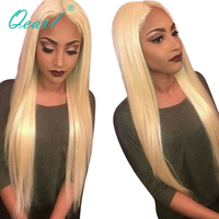 Brazilian Hair Full Lace Wig Pure 613# Blonde Remy Hair Pre Plucked Hairline Full Lace Human Hair Wigs With Baby Hair qearl
