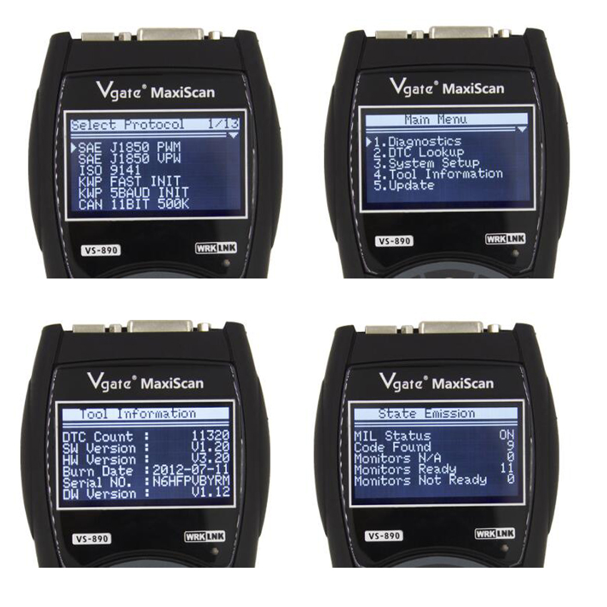 Vgate Maxiscan VS890 is one of the best OBD2 diagnostic tool that supports manually input DTC Look-up