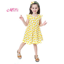 цена на Girls Dress 2019 Summer Children Clothing Fashion Print Princess Girl Clothes Kids Party Dresses for Girls 2 3 4 5 6 7 Years
