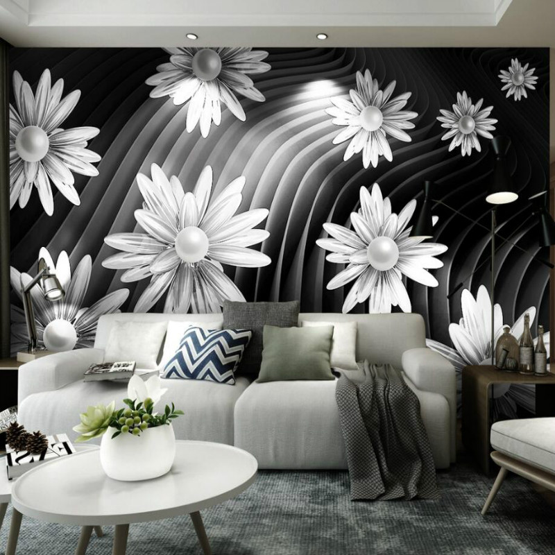 Ball abstract creative space 3d Wall Paper Triangle Decorative Painting Wallpaper for Living Room TV Home Improvement