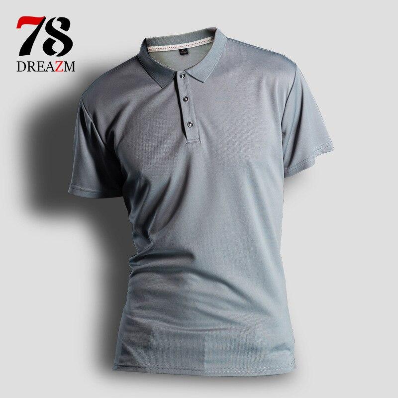 8 cor Dos Homens Novos Da Marca Homens Da Camisa do Negócio & trecho sólida Casuais camisa masculina camisa de Manga Curta respirável