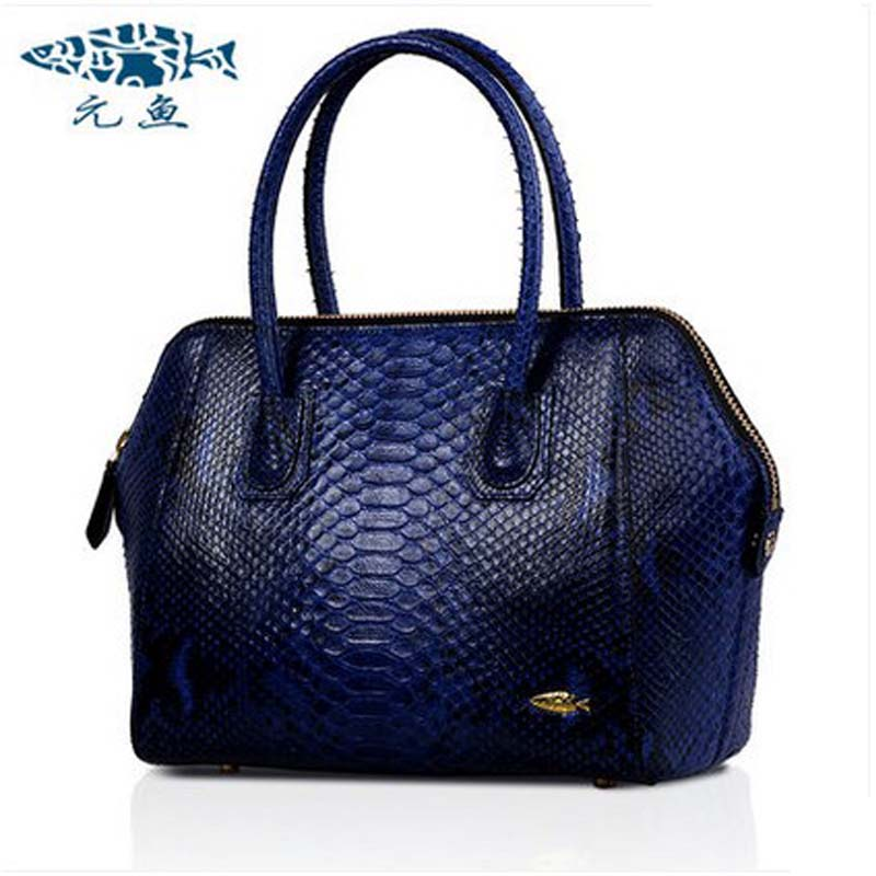 Yuanyu 2018 new hot free shipping European new python leather female bag leather fashion serpentine shells ladies women handbag yuanyu 2018 new hot free shipping real thai crocodile women handbag female bag lady one shoulder women bag female bag