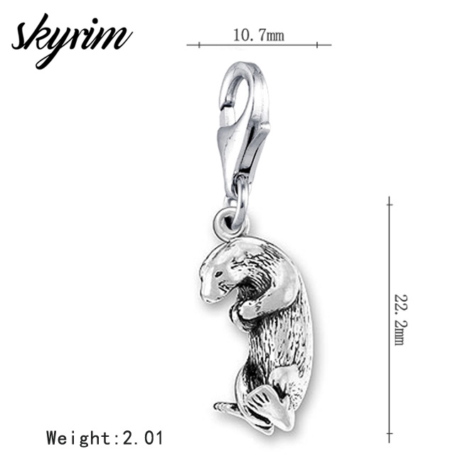 Korea Map Charm With Lobster Claw Clasp Charms for Bracelets and Necklaces