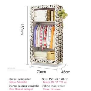 Image 5 - Actionclub armario de tela minimalista para bebé, armario de almacenamiento para bebé, moderno, de acero plegable, individual, muebles de dormitorio