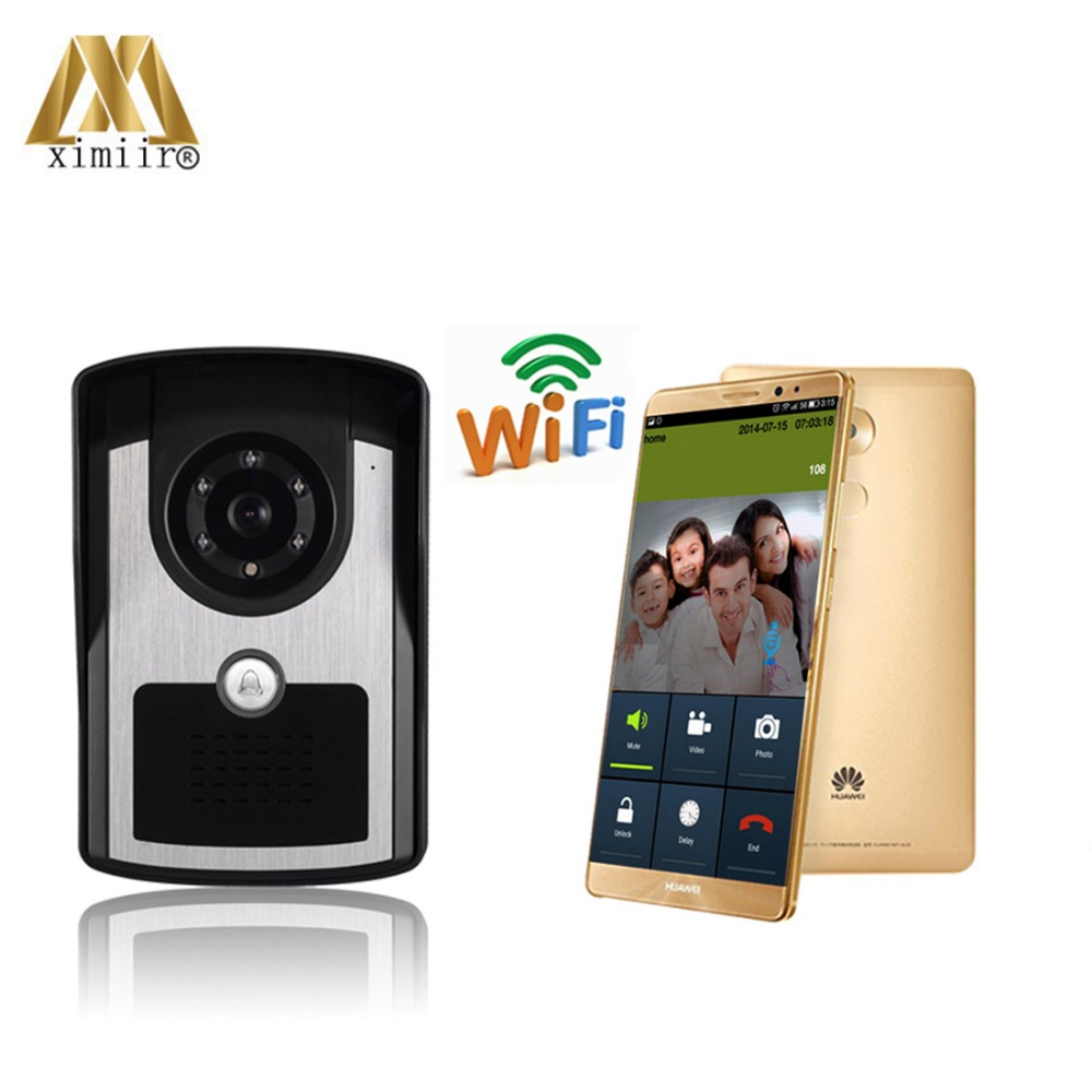 High Solution Stable Remote Control WIFI Wireless Video Door Bell Internet Video Door Phone With Free APP WiFi1001FC