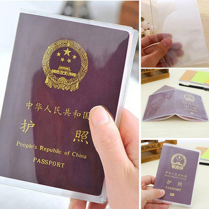 Passport Case Scrub Transparent Waterproof Passport Cover Clear Protective Case PVC Travelling Card Passport Case