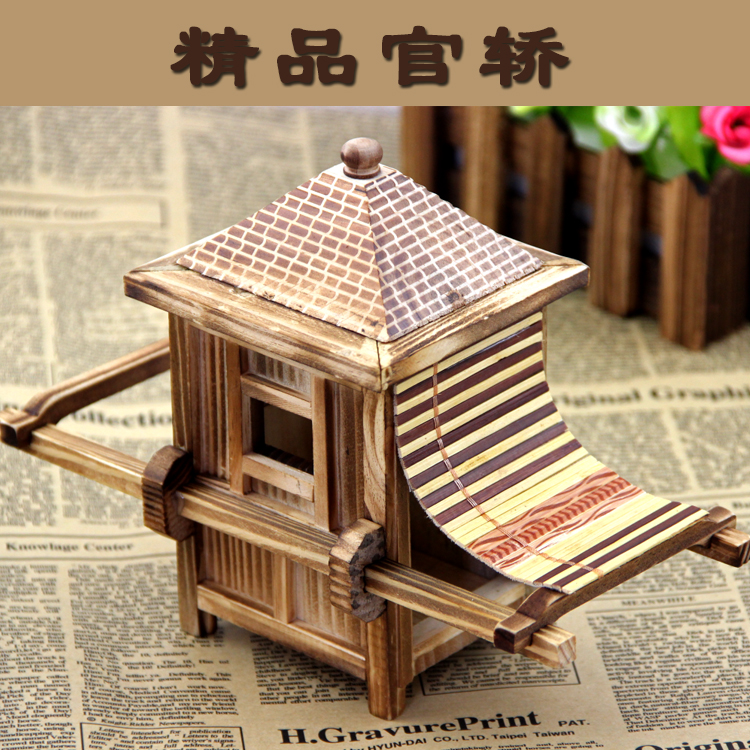 Us 1613 5 Offwooden Toy Gift Wood Bamboo Palanquin Knick Knacks Handicrafts Antique Model Ancient Transportation Chinese Style Souvenir 1pc In