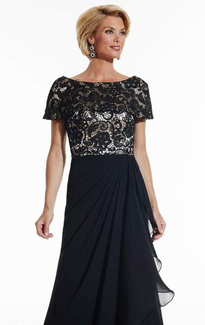 Короткие Cap рукавом кружева длинным мать невесты платья Большой размер 2016 А линии шифон лето дизайнер формальное вечернее платье гала
