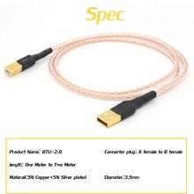 8 xtwist 5N OCC Чистая медь+ с серебряным покрытием Плетеный HIFI кабель USB DAC A-B OCC с серебряным покрытием цифровой AB аудио к B hi fi аудио кабель