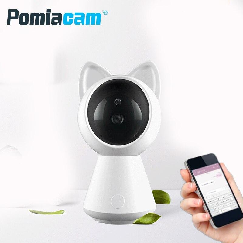 Lindo bebé Monitor ver en línea de visión nocturna de 2-hablar en forma de vídeo Monitor de niñera Radio niñera IP cámara wifi