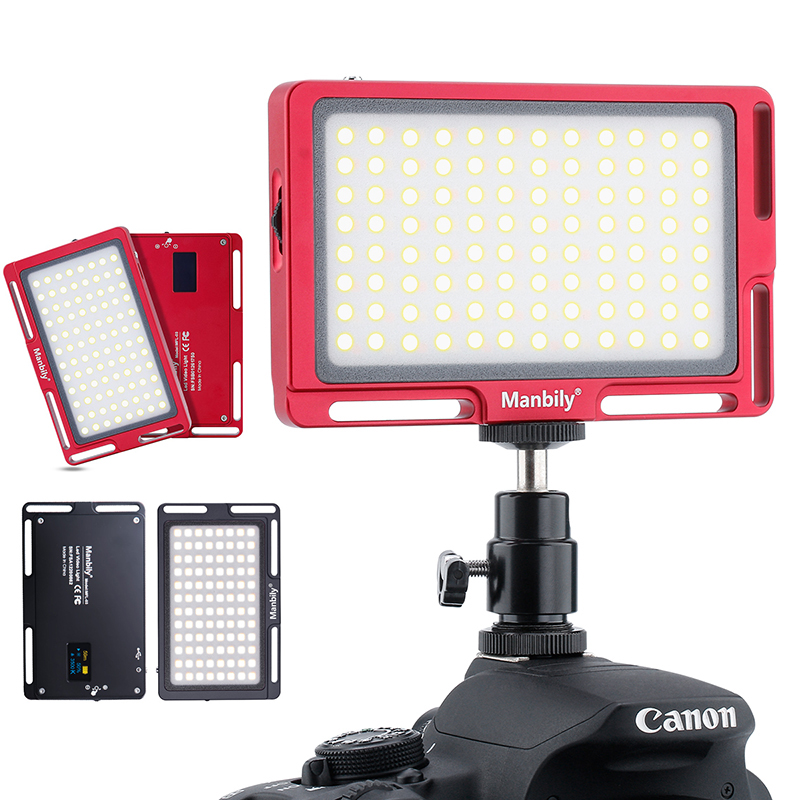 Manbily MFL-03 LED Video Light Vlog 180 LED Photo Studio LED Fill Lighting 3500K-5700K for Canon Nikon Sony DSLR Cameras