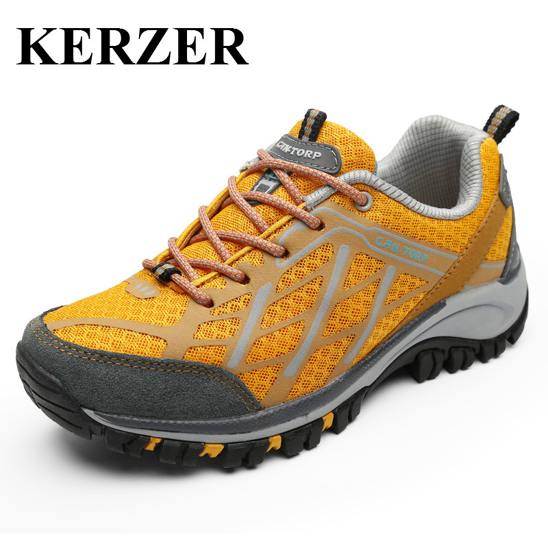 KERZER 2017 Men Hiking Shoes Brand Outdoor Sport Sneakers Breathable Mens Trekking Boots Blue Gray Climbing Trail Shoe Summer 3x 130mm large lens magnifier anti slip handle magnifying glass for reading