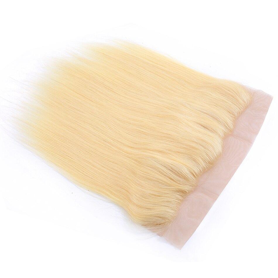 Прямые бразильские человеческие волосы на сетке 13 х4 дюйма, 10- 18 дюймов