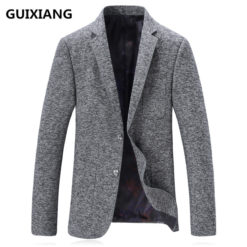 2018 Frühjahr Hohe Qualität Blazer Männer Casual Männlichen Klassischen Grau Blazer Männer Mode Blazer Slim Fit Mäntel Business Jacke