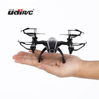 UDIRC RC Drone Remote Control Helicopter Quadcopter With Black HD Camera 6 Axle Gyro 2MP 1280
