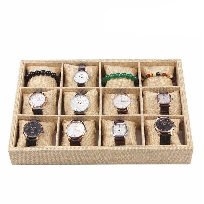 Linen Jewelry Bracelet Watch Display Tray Pallet Wrist