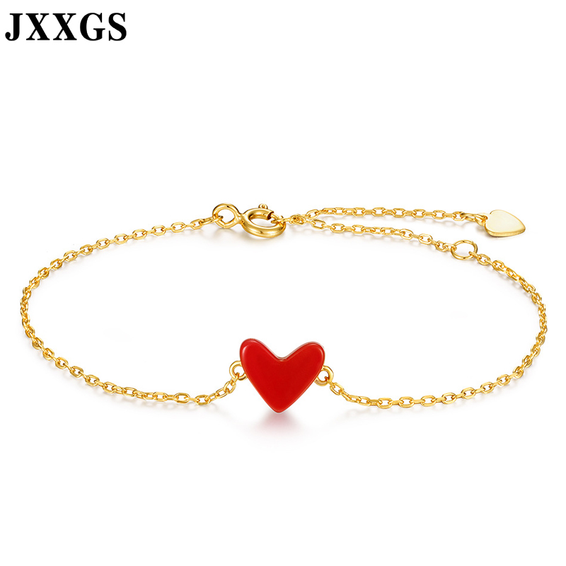 JXXGS New Design 14K Gold Elegant Natural Red Coral Bracelet Romantic Birthday Gift Bracelet For Women In Party/Wedding