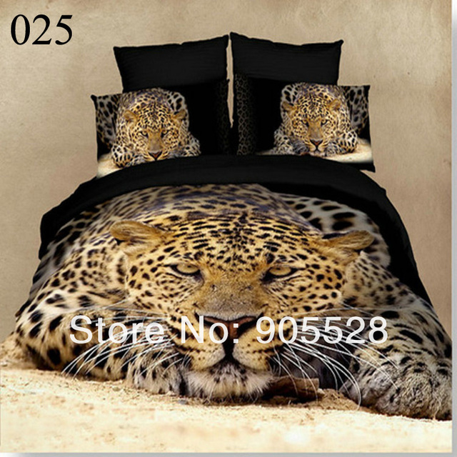 2013 100% quality Textile 3D Luxus Palace Tiger bedding set cotton Animal Fashion Duvet Cover Bed Sheet Pillow comforter Set