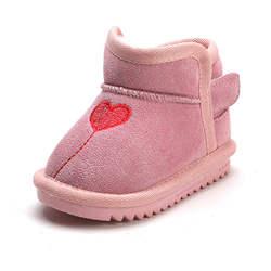 Зимние ботинки для малышей от 1 до 3 лет, теплые зимние ботинки из замши с плюшевой подкладкой, мягкая теплая обувь для малышей