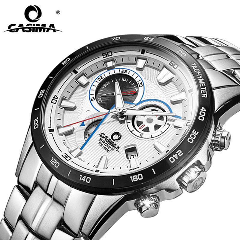 CASIMA Multi-Functional Business Men Watch Chronograph 10Bar Waterproof Sport Watch Men Fashion Watches relogio masculinoCASIMA Multi-Functional Business Men Watch Chronograph 10Bar Waterproof Sport Watch Men Fashion Watches relogio masculino