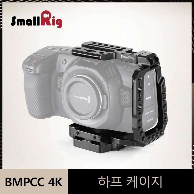 Smallrig Qr Setengah Kandang Untuk Blackmagic Design Pocket Cinema Camera 4k Kamera Cage Dengan Built In Manfrotto 501pl Plate 2255 Kamera Kandang Aliexpress
