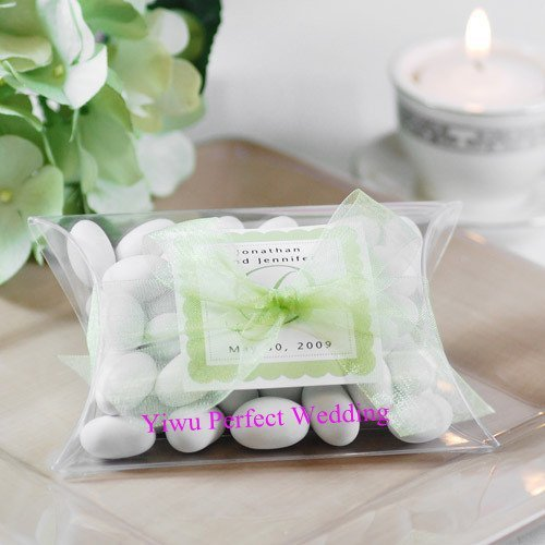 Free Shipping Clear Pvc Pillow Shape Candy Bo Wedding Favor Box Party