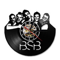Backstreet Boys Wall Clock Modern Design Creative 3D Clocks Hanging Vintage Retro Style Classic Vinyl Record Wall Watch 12 inch