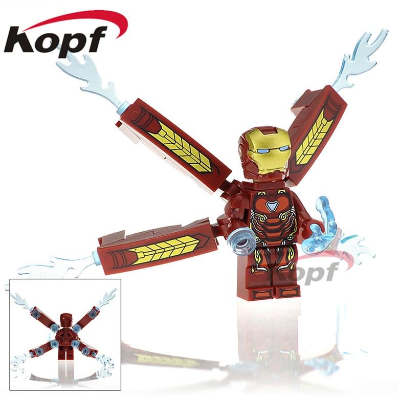20Pcs XH 823 Super Heroes MK50 Mark Iron Man Doctor Strange Bricks Building Blocks Collection Doll Action For Children Gift Toys