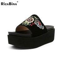 RizaBina National Style Women Platform Sandals Women Open Toe Thick Bottoms Slippers Summer Beach Shoes Women