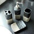 Tom suave europeia quatro-pedaço conjunto de banheiro em cerâmica produtos de higiene pessoal escova de dentes titular banheiro acessórios de casa de banho