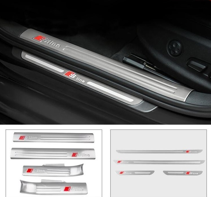 car real carbon fiber welcome pedal door sill for Audi Q3 2013 2017 Car Sticker Accessories|Car Stickers| |  - title=