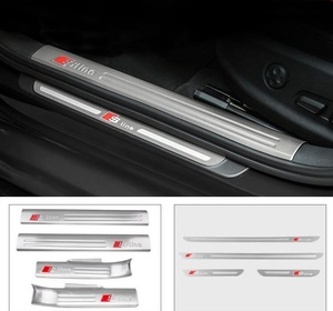 car real carbon fiber welcome pedal door sill for Audi Q3 2013 2017 Car Sticker Accessories|Car Stickers| |  -