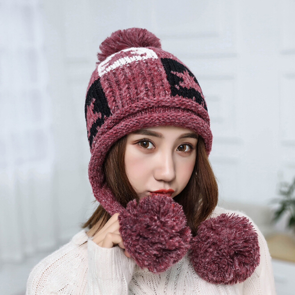 4d028ce404c Beanie Hat Ladies Womens Slouch Winter Woolly Ski Knitted Turn Up ...