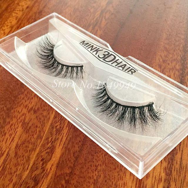 1 Box 1 Pair Packaging Mink 3D False Eyelashes Natural Crisscross Messy Luxury Vivid Fake Eyelashes 100% Handmade  Makeup Lashes 1
