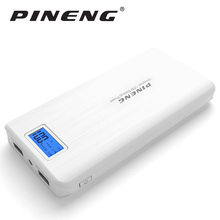Pineng Power Bank 20000mAh High Capacity With LED Screen External Battery Portable Mobile Charger Dual USB Output Power bank