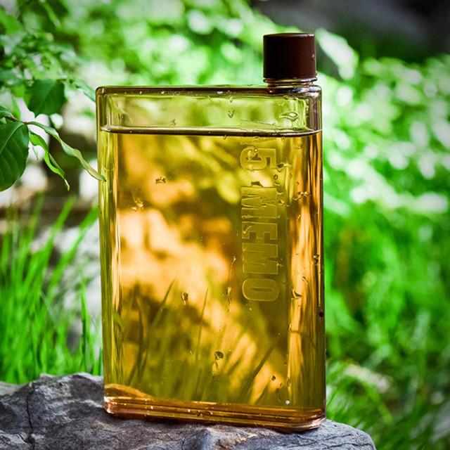 Transparent Flat Bottle