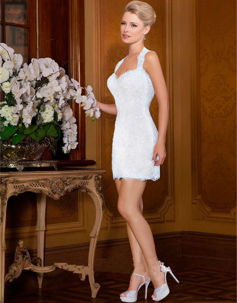 white lace mini wedding dress mini wedding dress Mini Strapless Short Dress White Lace A Line Wedding
