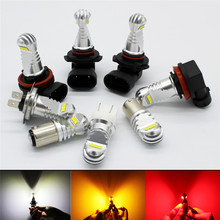 2 X 30W H7 H4 9005 9006 H11 H8 H16 P13W Canbus Error Free LED Lamp Car Fog Light 12V 24V White 6000K Fog DRL Driving Bulb Lights цена