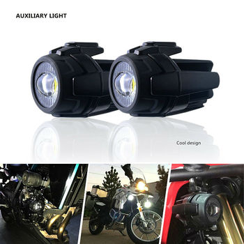 40W LED Auxiliary Lamp 6500K Fog Driving Light Kits with Protect Guards Wiring Harness for Motorcycle BMW K1600 R1200G