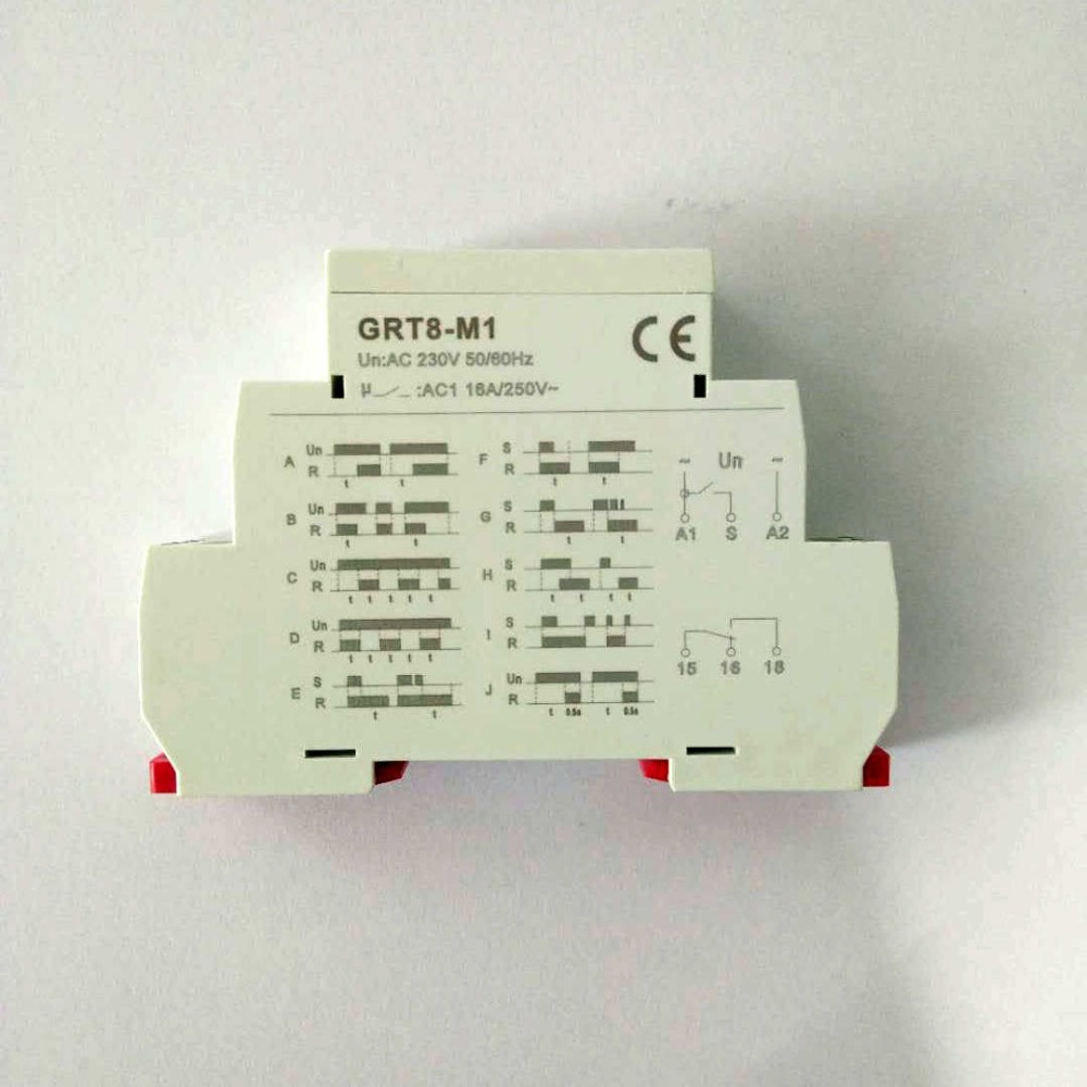 Multifunction Din Rail Automatic Timer Relay Grt8 M Ac Dc 12v 24v Switch Dpdt 220v Control Time In Relays From Home Improvement On