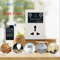 SC1 GSM EU 220V Phone RC Remote Wireless Control Smart Switch GSM Socket Power Plug for Smart Home Household Appliance
