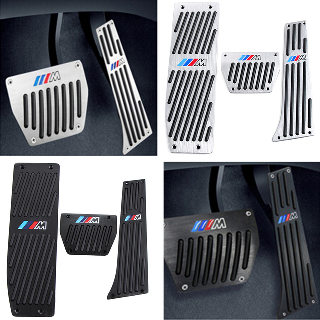 Hot Products Gas Fuel Brake Footrest Pedal Plate Pad AT MT For BMW E30 E32 E34 E36 E38 E39 E46 E84 E87 E90 E91 E92 E93 X1