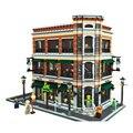 2017 LEPIN 15017 4616 Unids Ciudad Calle Creador Starbucks Bookstore Cafe Modelo Kit de Construcción de Bloques de Juguete Ladrillos Compatibles