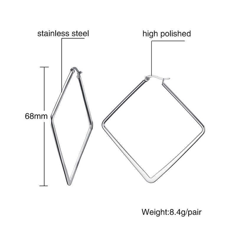 NEWBUY 2020 Fashion Simple Design Irregular Shape Hoop Earrings For Women Silver Color Female Party Jewelry Wholesale