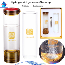 Anti-Aging Hydrogen generator water bottle 600ml H2 Ionizer Containing acid water chamber to remove chlorine and ozone