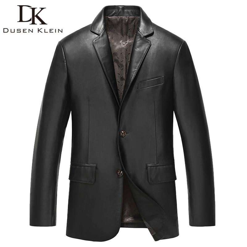 Brand 2017 New leather suits Men Nature sheepskin Autumn Slim/Simple Business Style/Sheepskin Coat 61Z6609
