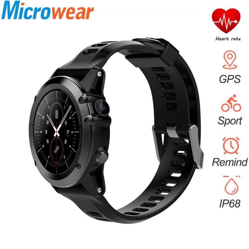 3G montre intelligente H1 Smartwatch hommes MTK6572 4 GB/ROM GPS téléphone intelligent avec moniteur de fréquence cardiaque 1.39 pouces appareils portables pour VS H2